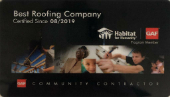 Best Roofing Company With Habitat For Life